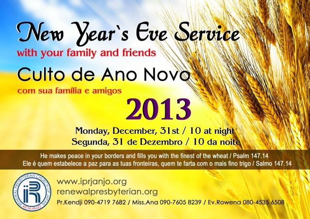 Culto de Ano Novo 2012-2013