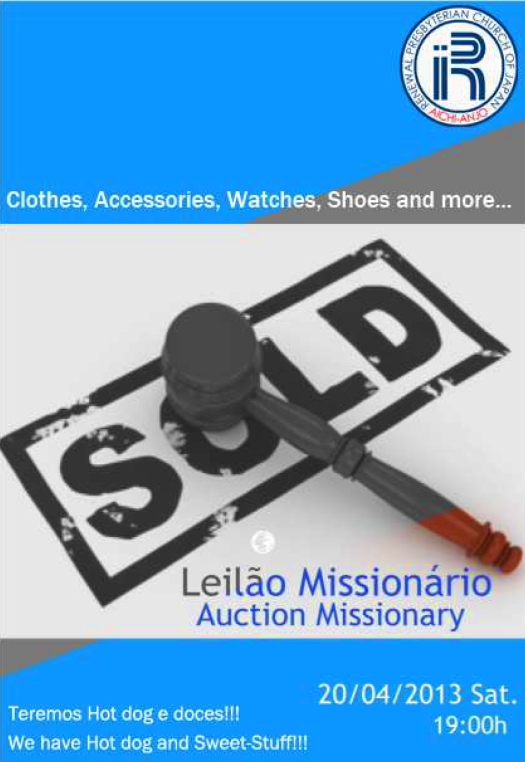 Leilao Missionario Abril de 2013