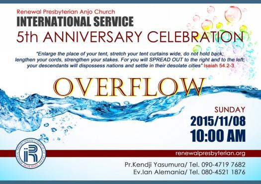 V Anniversary International Service Leve