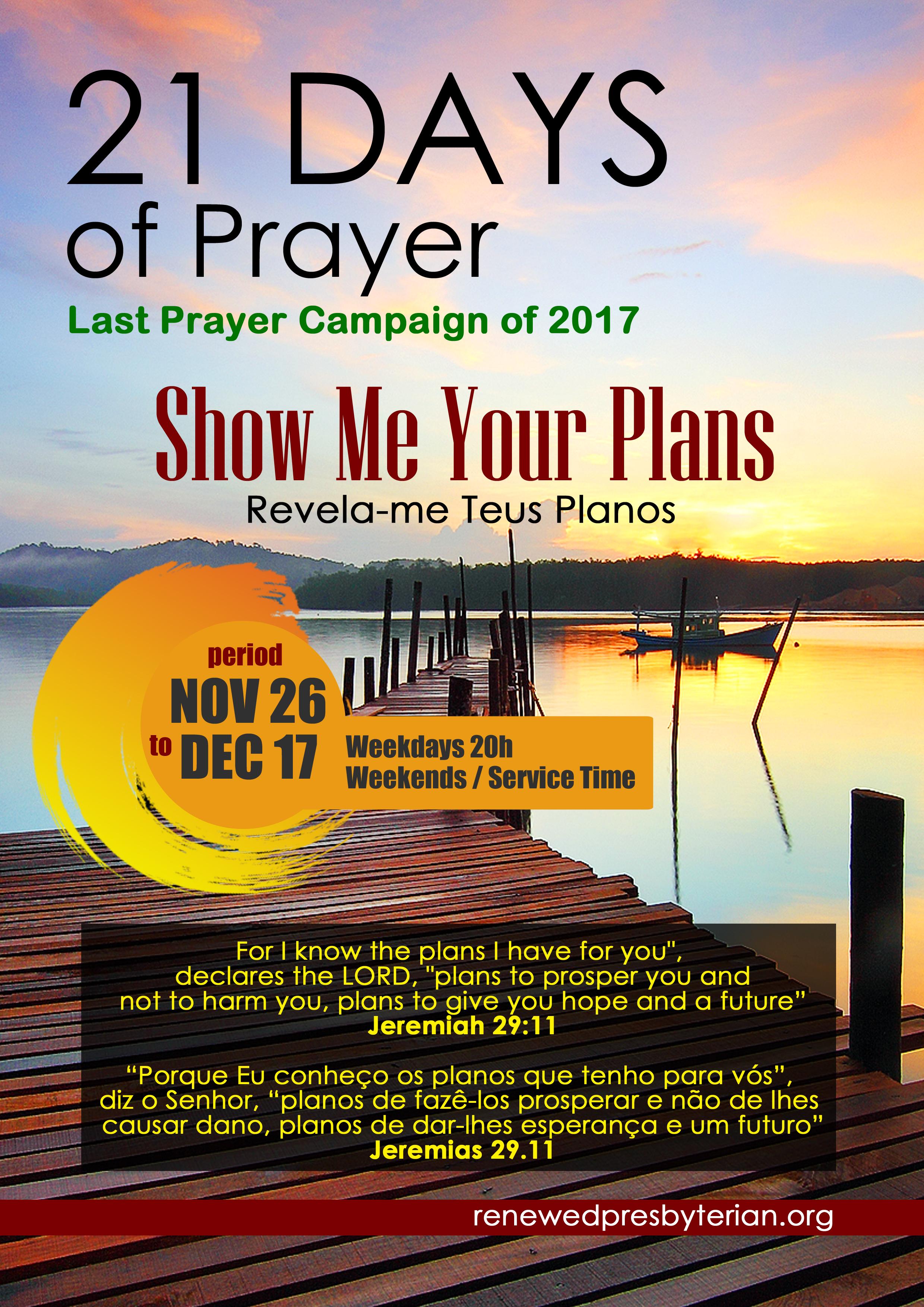 Campanha de Oração 21 Dias 2017 2