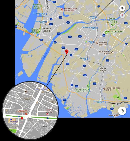 Mapa Templo Nishio PNG